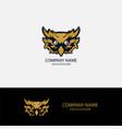 owl head abstract logo vector image vector image