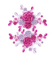 peony blossom and abstract florals pattern vector image vector image