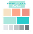 photo collage mood board - colorful vector image