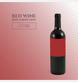 photorealistic bottle of red wine on a transparent vector image