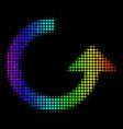 rainbow colored pixel rotate icon vector image vector image