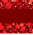 Red Graphic Background With Space vector image vector image
