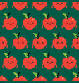 sad apples characters with bite marks pattern vector image vector image