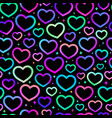 seamless pattern iridescent gradient hearts vector image