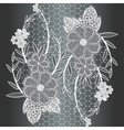 Seamless white floral lace ribbon vector image vector image