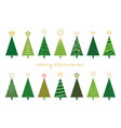 set of assorted christmas trees vector image
