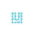share letter u logo icon design vector image vector image