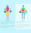 shopping and sale two posters vector image vector image