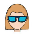 smart glasses technology vector image vector image