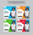 social media post template vector image vector image