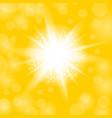 sparkling star glowing light explosion starburst vector image vector image