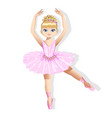 sweet little ballerina in a shiny dress vector image vector image