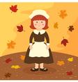 Thanksgiving Girl Cartoon vector image vector image