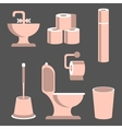 Toilet Elements Set vector image vector image