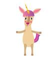 unicorn standing on two legs animal cartoon