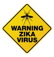 Warning Zika Virus Sign vector image vector image