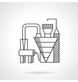 Waste recycling factory line icon vector image