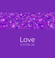 wedding or valentine day greeting card love in vector image