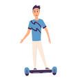 young handsome man riding an giroboard modern vector image