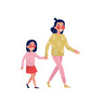 young smiling mother with her little daughter vector image vector image