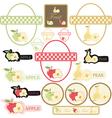 set of label fruit vector image