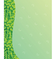 A blank green paper with green leaves vector image vector image
