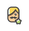 actor men star awards icon cartoon vector image