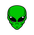 Alien head isolated white background design
