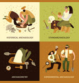 archeology concept icons set vector image vector image