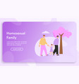 banner homosexual family concept vector image