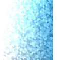 Blue 3d cube mosaic pattern background design vector image vector image