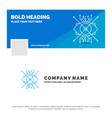 blue business logo template for ar augmentation vector image vector image