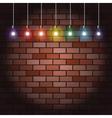 brick wall and light bulbs vector image vector image