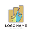 bussines and consulting logo and icon design vector image