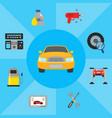 car service elements vector image