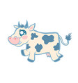 cartoon a cow vector image vector image