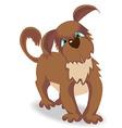 Cartoon brown dog with green eyes vector image vector image