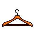 cartoon image of hanger icon vector image