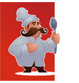 cartoon man chef proffessional character vector image vector image