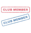 club member textile stamps vector image vector image
