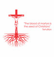 crucifix roots and phrase vector image vector image