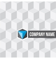 Cube company logo on cubes seamless pattern vector image