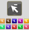 Cursor arrow minus icon sign Set with eleven vector image vector image