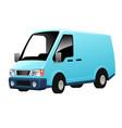 delivery courier van truck car vector image