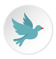 dove icon circle vector image vector image