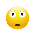 emoji yellow sad surprised face vector image vector image