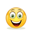 Emoticon with big toothy smile vector image vector image