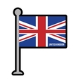 england patriotic flag isolated icon vector image vector image