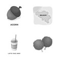 fans cooking and other monochrome icon in cartoon vector image vector image