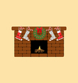 Fireplace icon vector image vector image